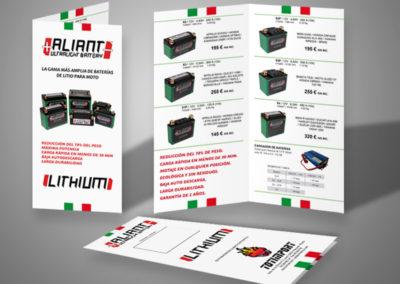 Diseño tríptico baterías
