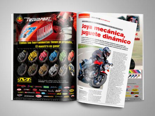 Publicidad en revista motos