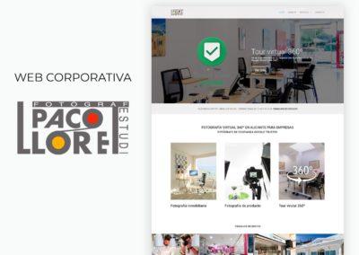 Web corporativa fotografía