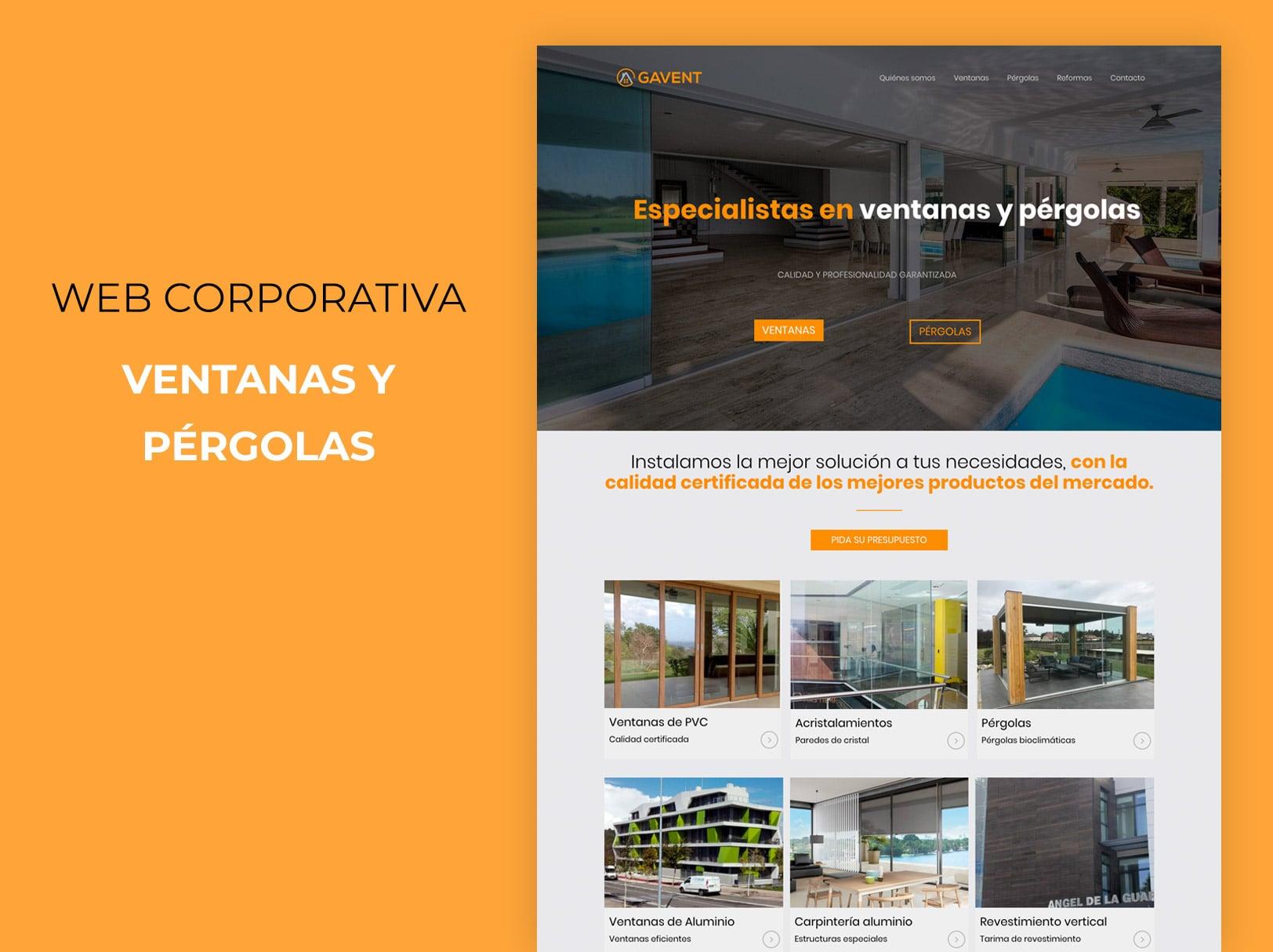 Portfolio web corporativa ventanas