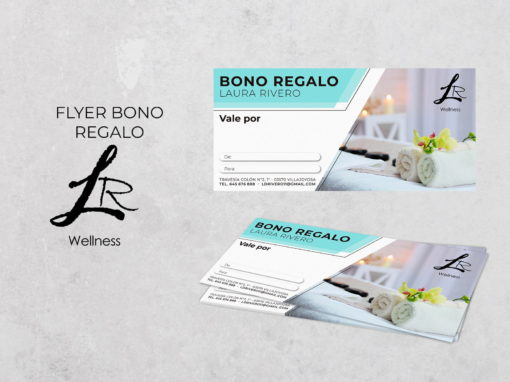 Flyer bono regalo esteticién