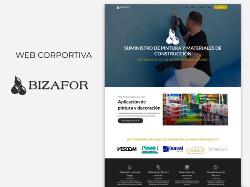 Web corporativa Bizafor