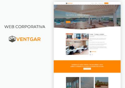 Web corporativa ventanas