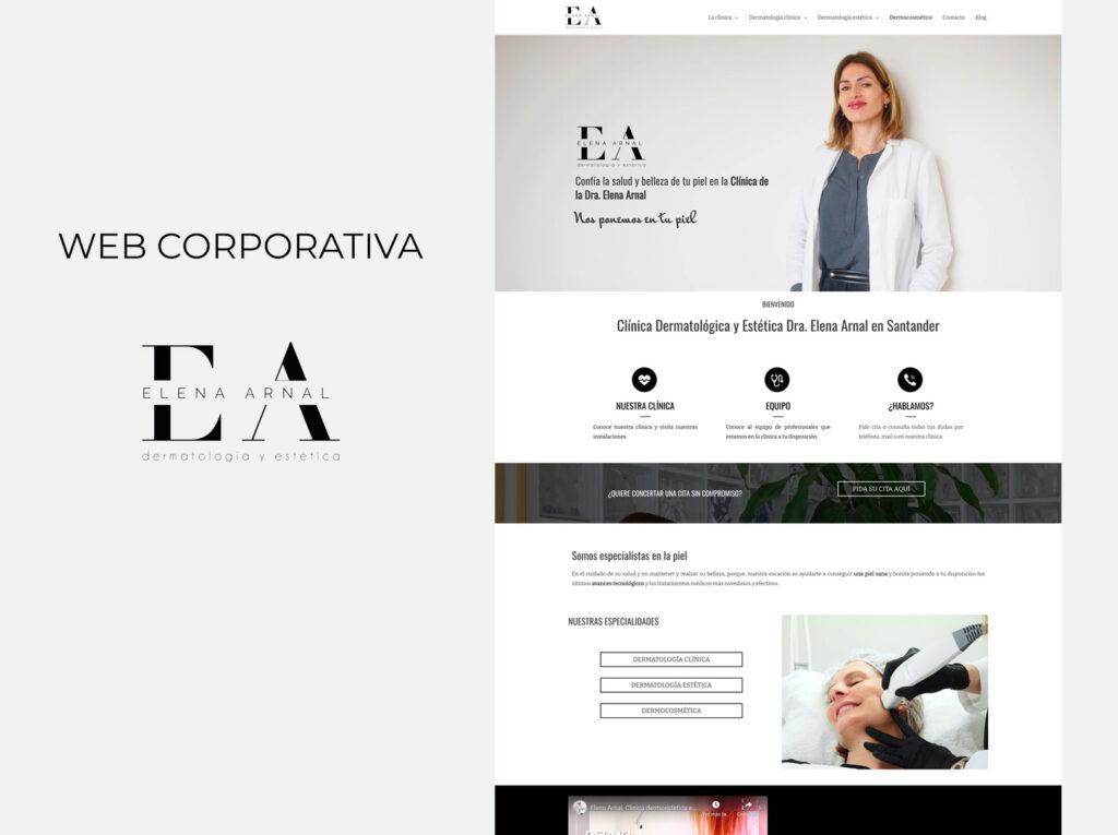 web corporativa clinica dermatologica